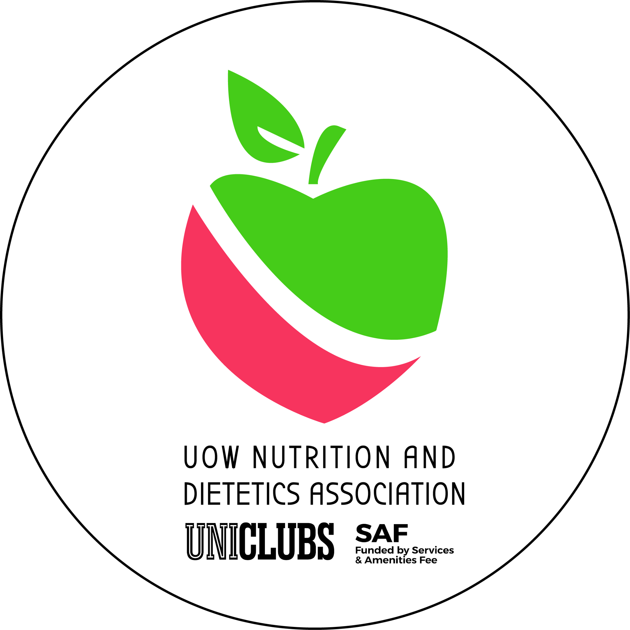 UniClubs - UOW Nutrition and Dietetics Association Logo